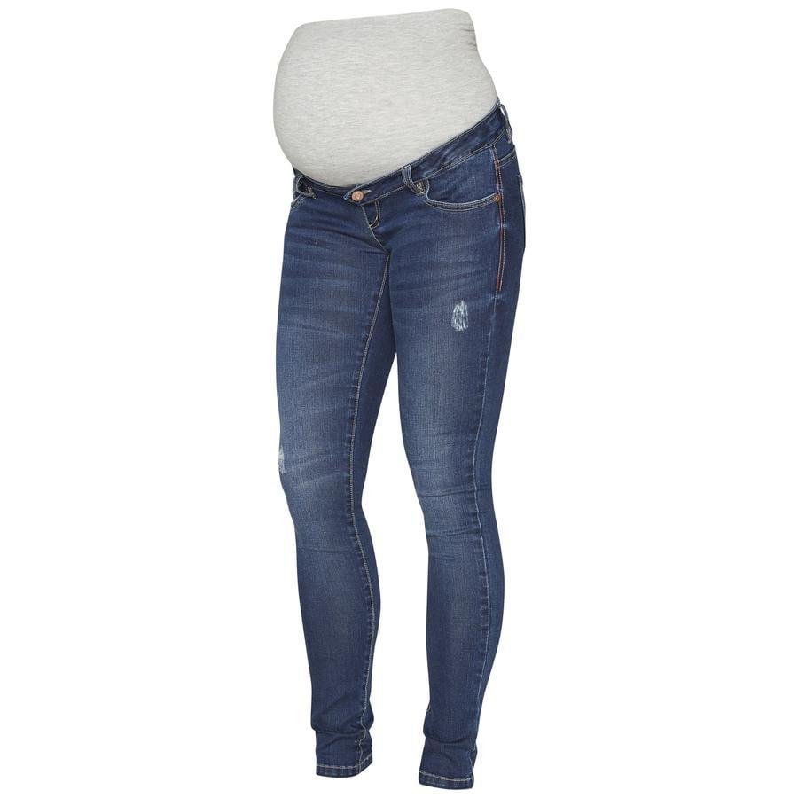 mama licious Omstandigheden jeans MLNANETH medium blauw melange