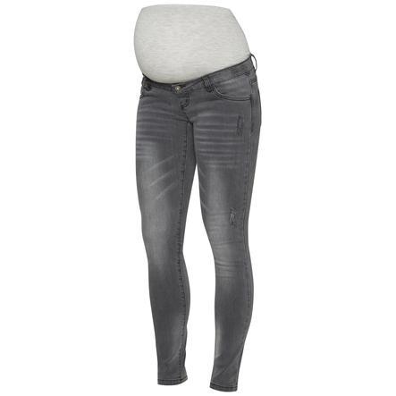 mama licious Jeans Circumstance MLLUCCA gris moyen mélangé