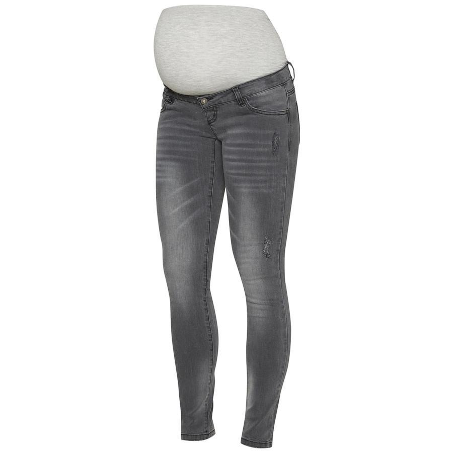 mama licious Omstandigheden spijkerbroek MLLUCCA medium grijs melange