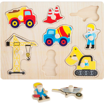 small foot® Setpuzzle Baustelle, 8 Teile