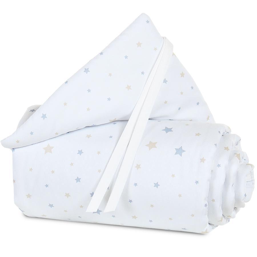 babybay Tour de lit original étoiles sable/bleu azur
