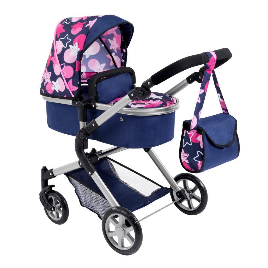 bayer Design Puppenwagen City Neo blau/ rosa Sternen