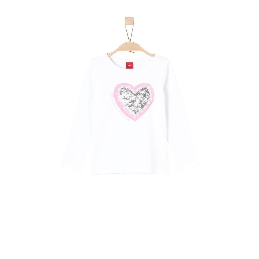 s.Oliver Girl s shirt met lange mouwen wit