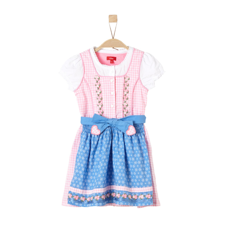 s.Oliver Girls Dirndl purple pink check