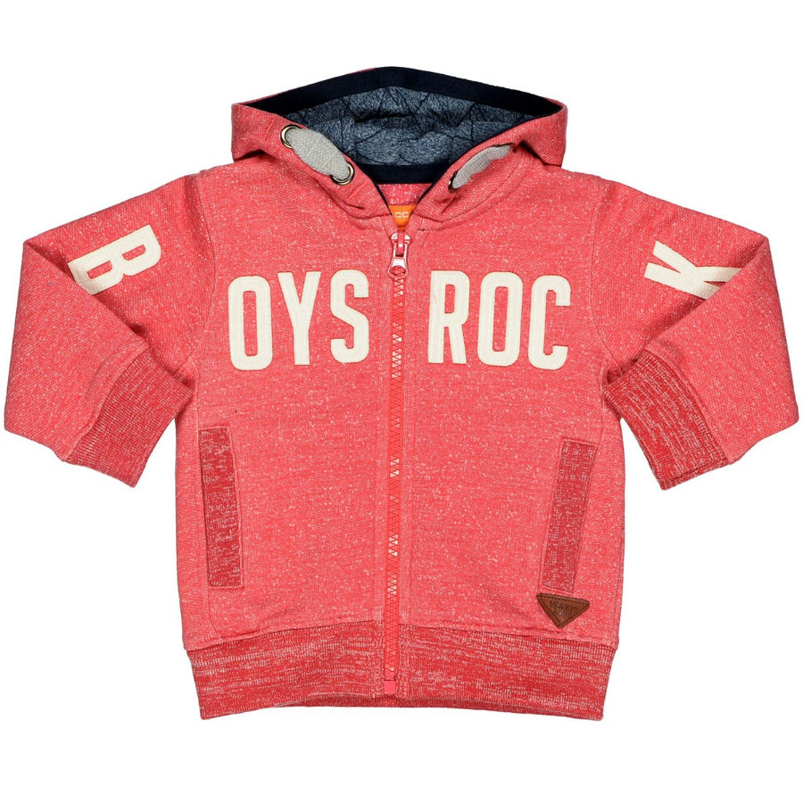 STACCATO Boys Sweatjacke red melange structure