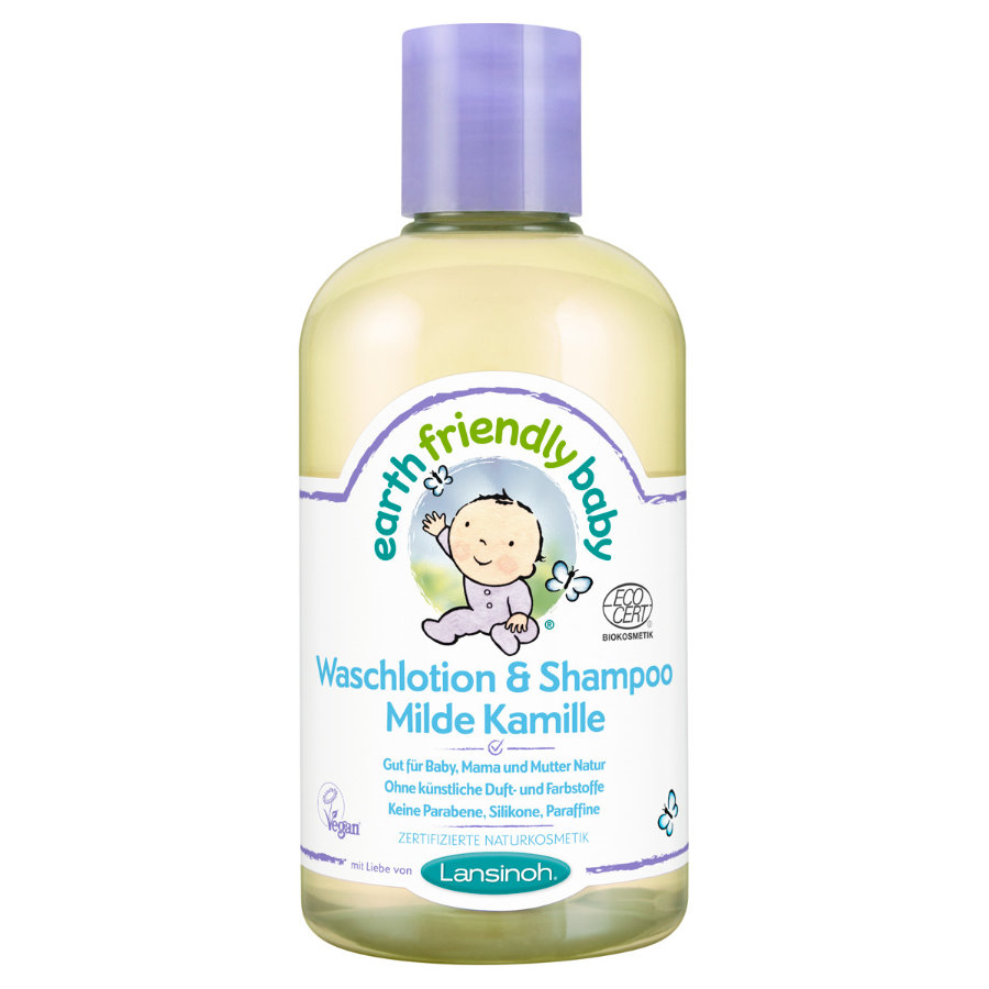 Lansinoh Waschlotion & Shampoo Earth Friendly Baby® Milde Kamille 250 ml