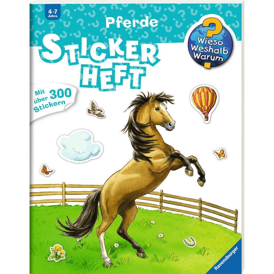 Ravensburger Stickerheft Wieso? Weshalb? Warum? Pferde