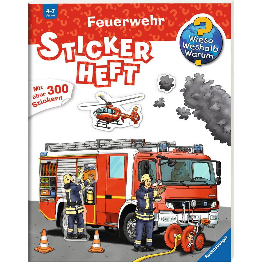 Ravensburger Stickerheft Wieso? Weshalb? Warum? Feuerwehr