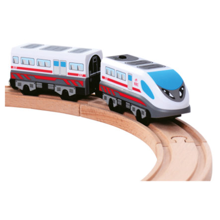 Bino Batteriebetriebene Lokomotive mit Waggon