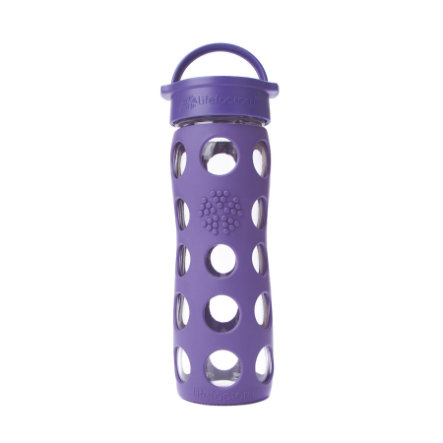 "LIFEFACTORY Vattenflaska Glas  ""royal purple"" 475 ml"