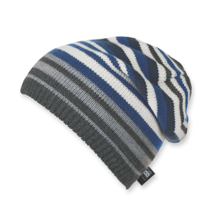 Sterntaler Boys Bonnet tricoté rayures anthracite melange