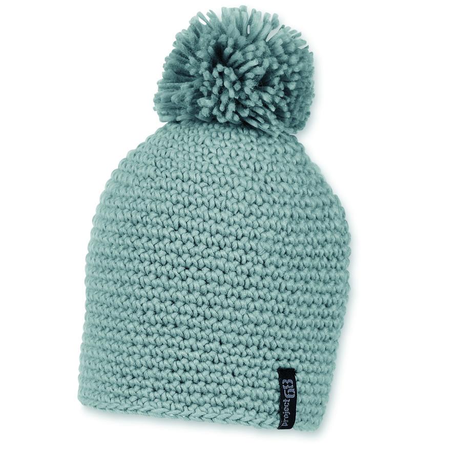 Sterntaler Crochet cap byta bobble rökgrå