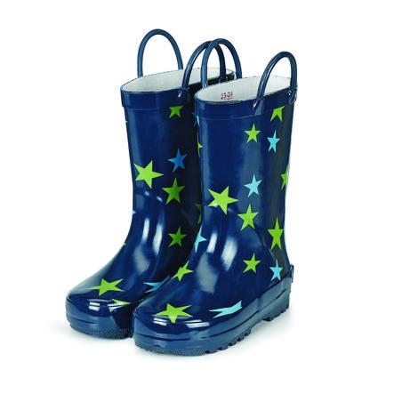 Sterntaler Bottes enfant réflecteur caoutchouc étoile bleu marine