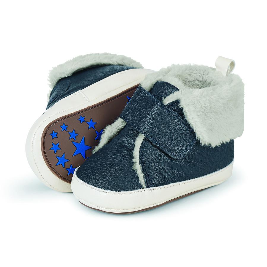 Sterntaler Boys Chaussure bébé imitation cuir Teddyflausch marine