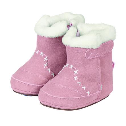 Sterntaler Girl s Boots Nubuk Nubuk Teddyflausch geranium