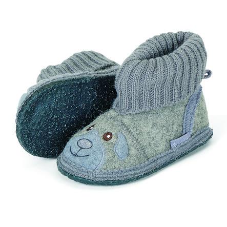 Sterntaler zapatillas de fieltro motivo bordado gris ahumado