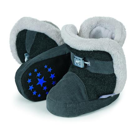 Sterntaler Bottes enfant Babycord micropolaire gris