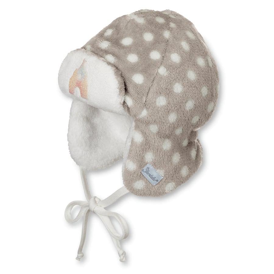 Sterntaler Girl s Bonnet volant gris pierre gris pierre à pois