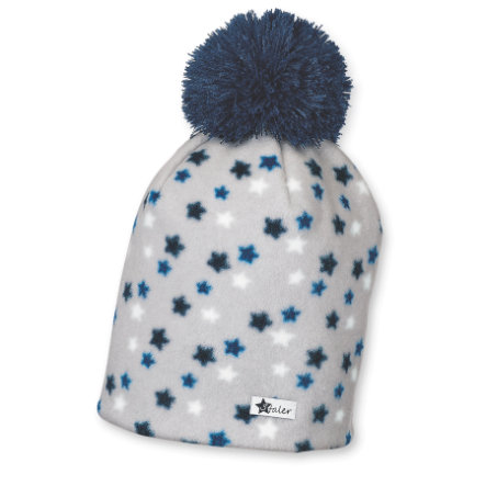 Sterntaler Bonnet Microfleece Stars bleu marine