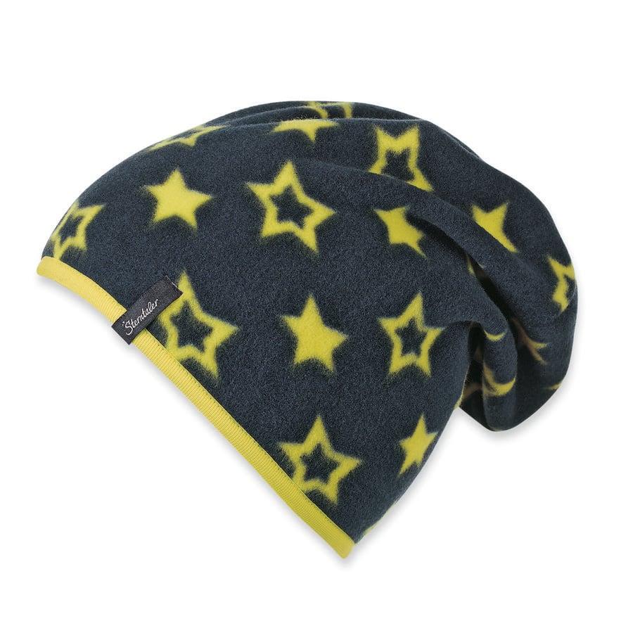 Sterntaler Girls Slouch-Beanie Sterne Microfleece marine