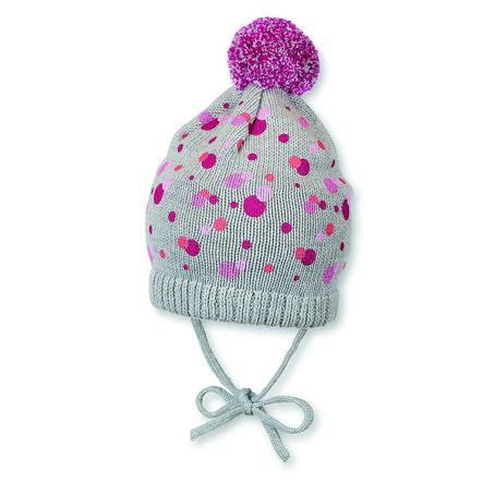 Sterntaler Girl s dzianinowy kapelusz jagodowy czerwony
