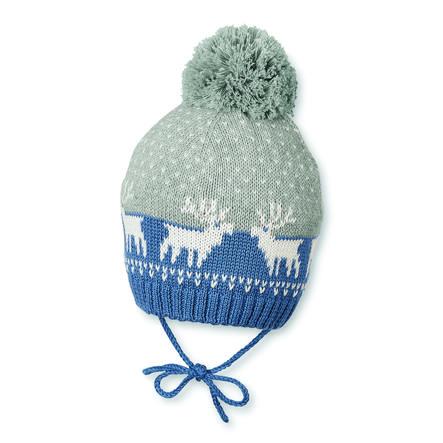 Sterntaler Girl s gorra de punto azul noche