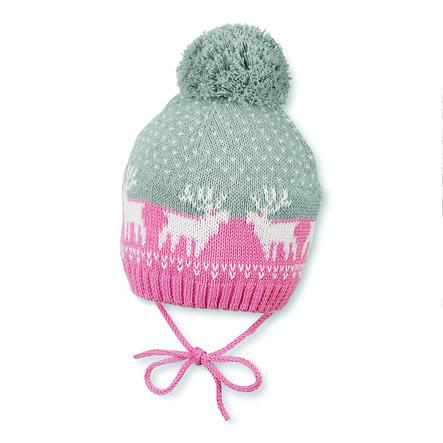 Sterntaler Girl s Bonnet tricoté en géranium