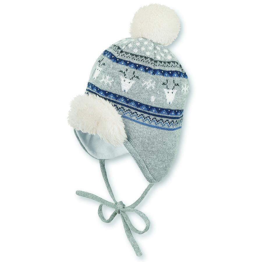 Sterntaler Bonnet tricoté argent mélangé