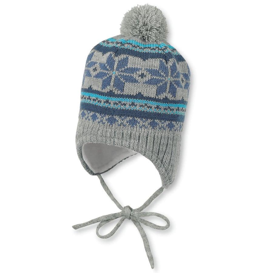 Sterntaler Girl Bonnet tricoté en maille melange argent