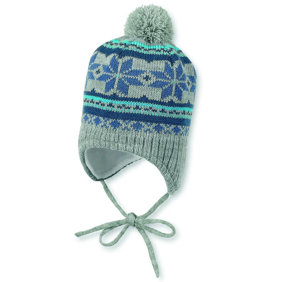 Sterntaler Girl s dzianinowy kapelusz srebrny melange