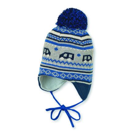 Sterntaler stickade hatt Pomponbilar atlantik