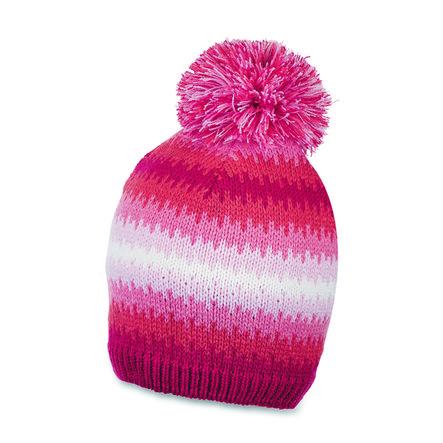 Sterntaler Girls Stickad cap pompon bär röd