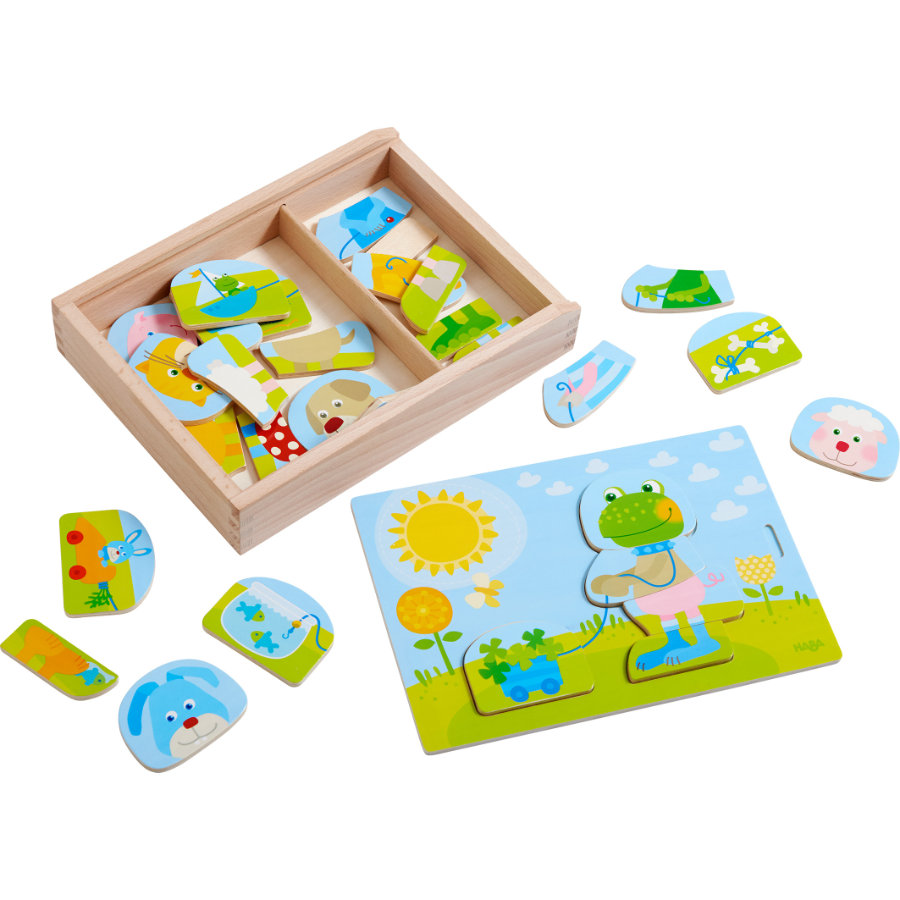 HABA Holzpuzzle Lustiger Tiermix