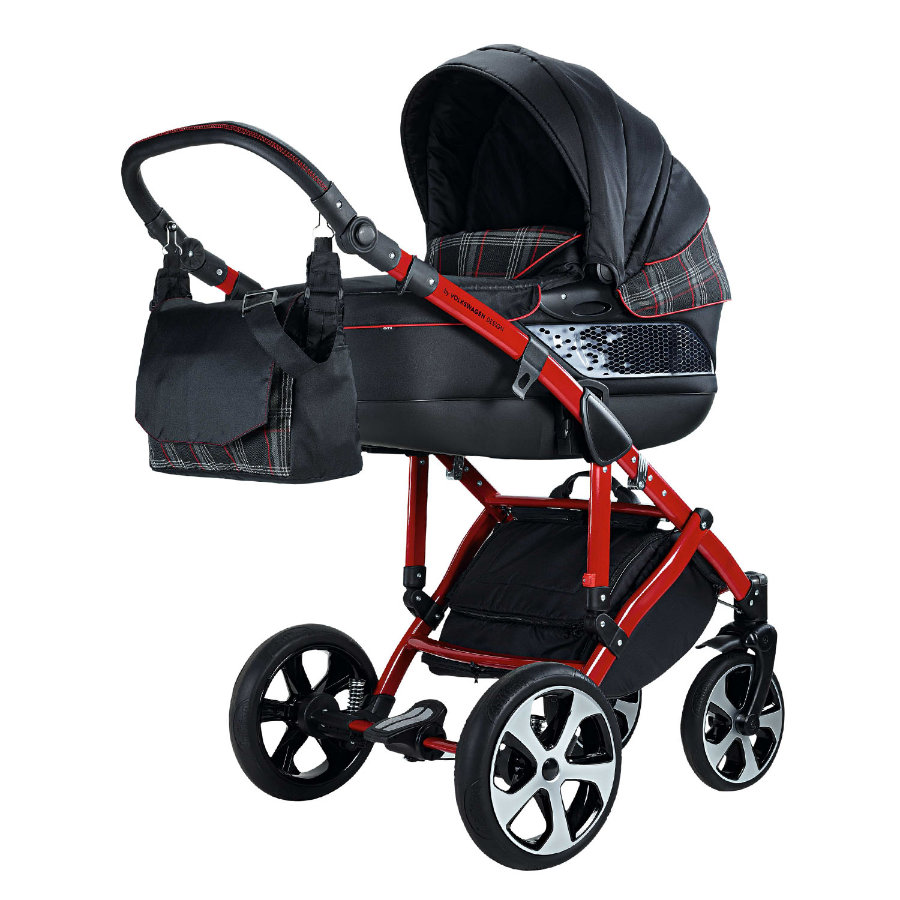 knorr-baby Barnvagn Volkswagen GTI svart/röd