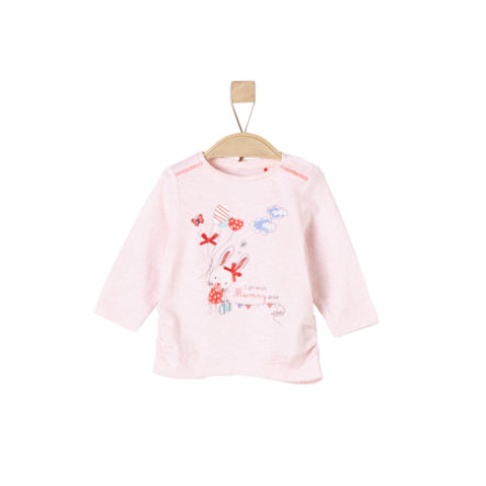 s. Olive r Girls Košile s dlouhými rukávy light pink melange