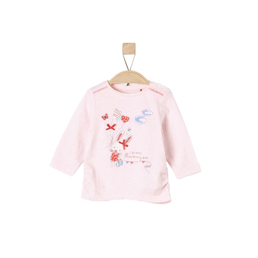 s.Oliver Girl s Chemise manches longues rose pâle melange