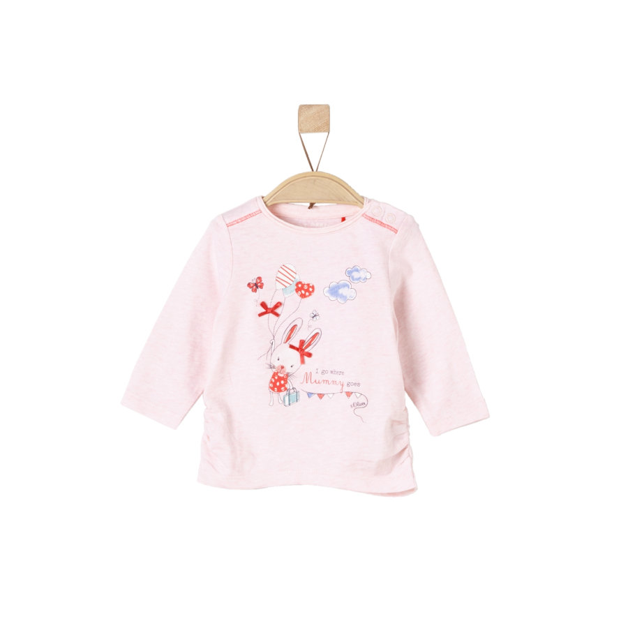 s.Oliver Girls Langarmshirt light pink melange