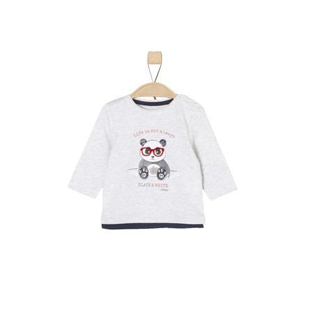s.Oliver Boys Koszula z długim rękawem w kolorze białym melanżowym.