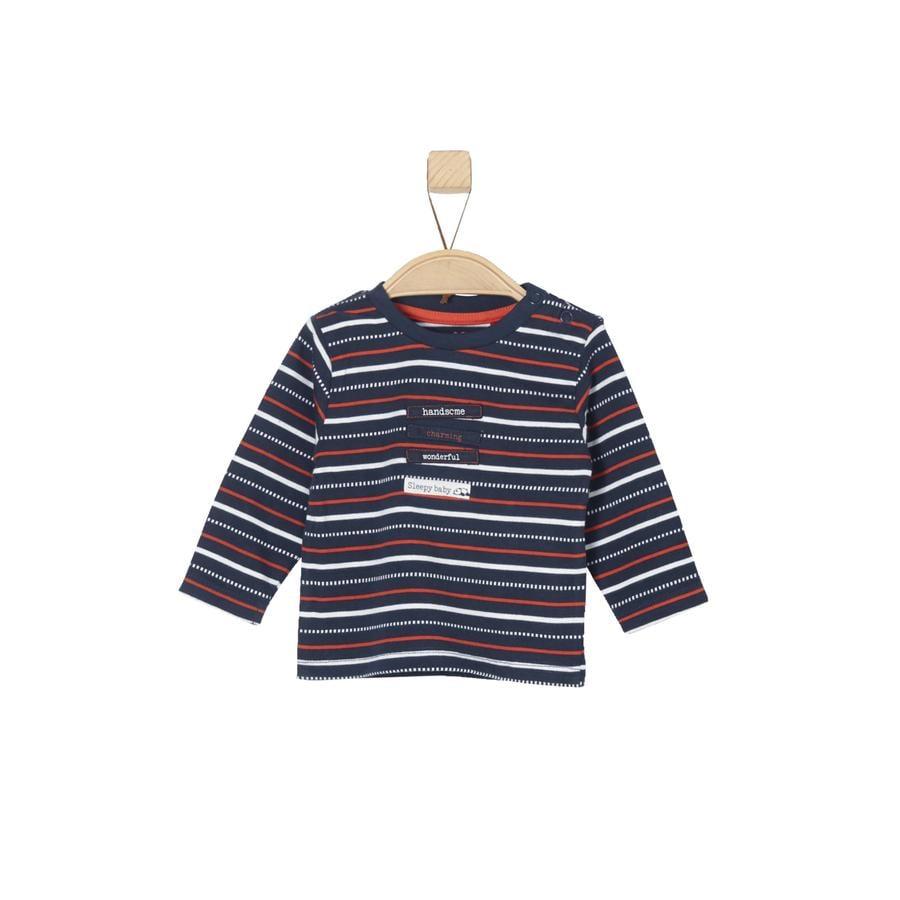 s.Oliver Boys Shirt met lange mouwen blauwe strepen