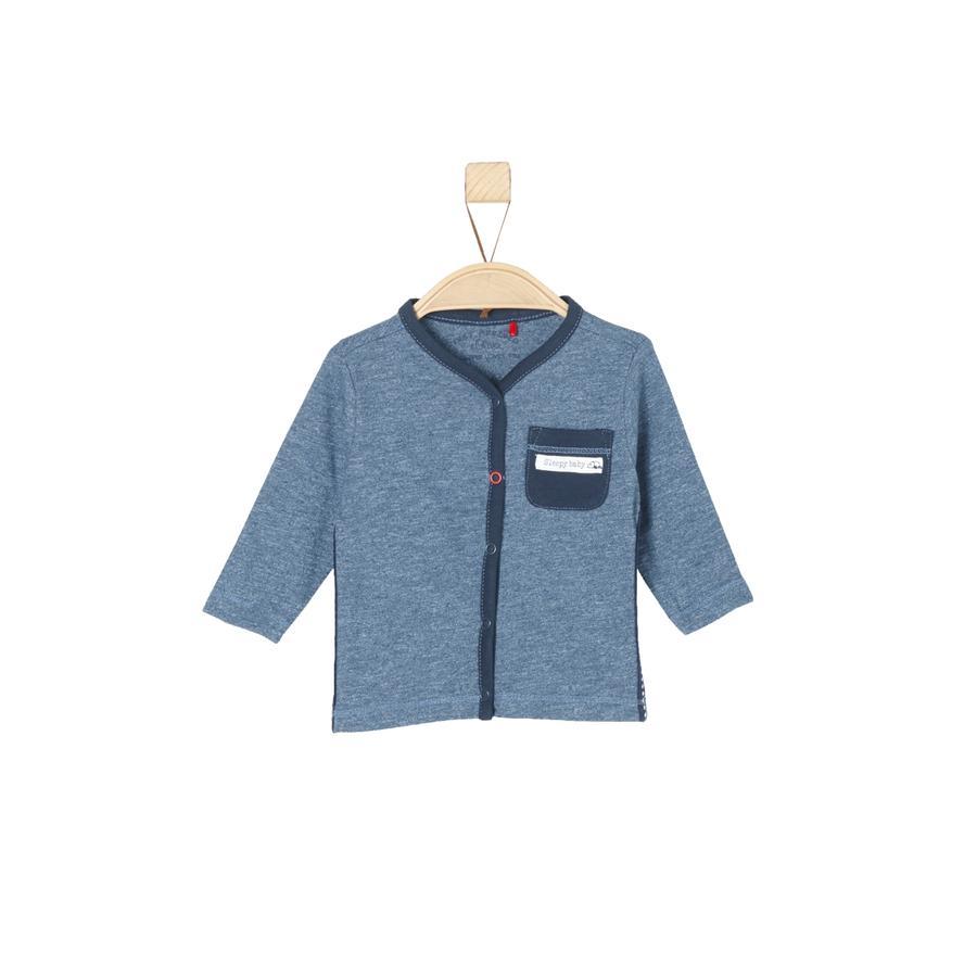 s.Oliver Boys Koszula z długim rękawem, niebieski, wielobarwne paski.
