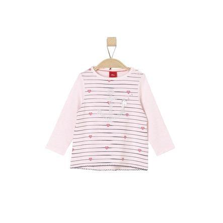 s.Oliver Girl s Mélange rosa claro de manga larga