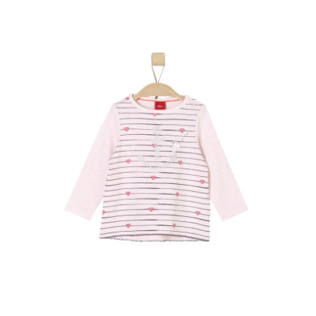 s.Oliver Girls Longsleeve light pink melange