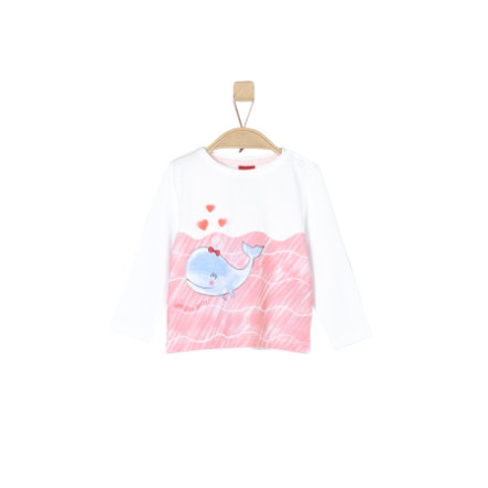 s.Oliver Girl s chemise à manches longues blanc