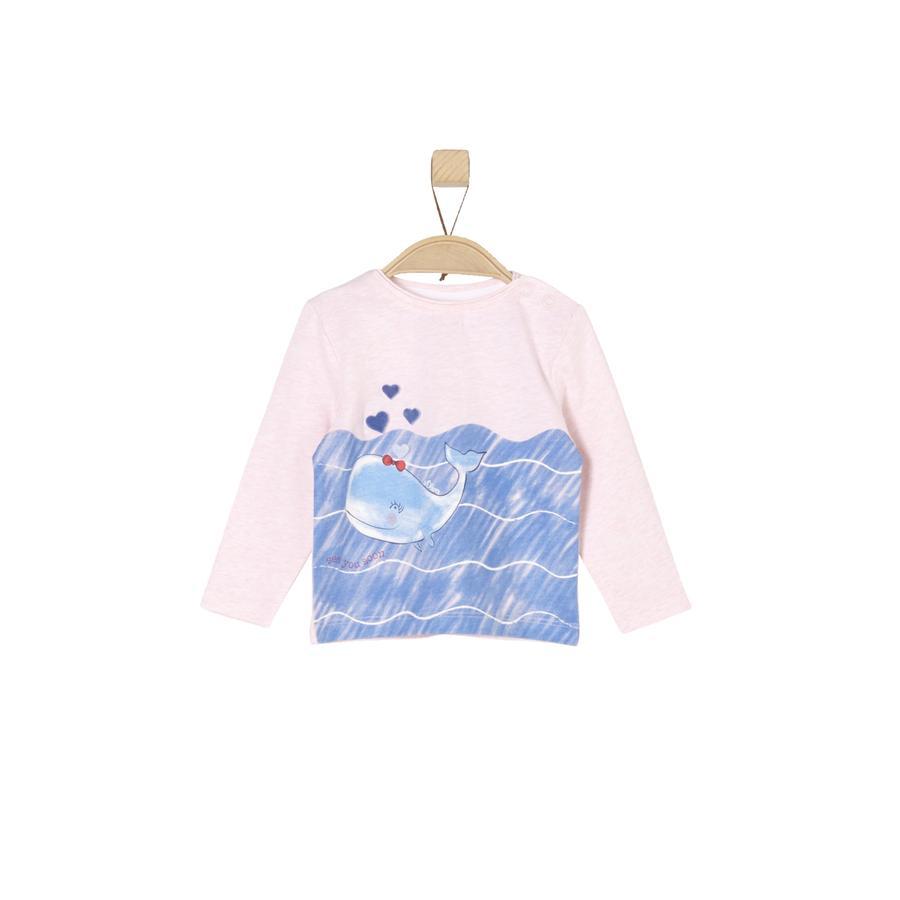 s.Oliver Girl s Maglietta manica lunga rosa chiaro melange