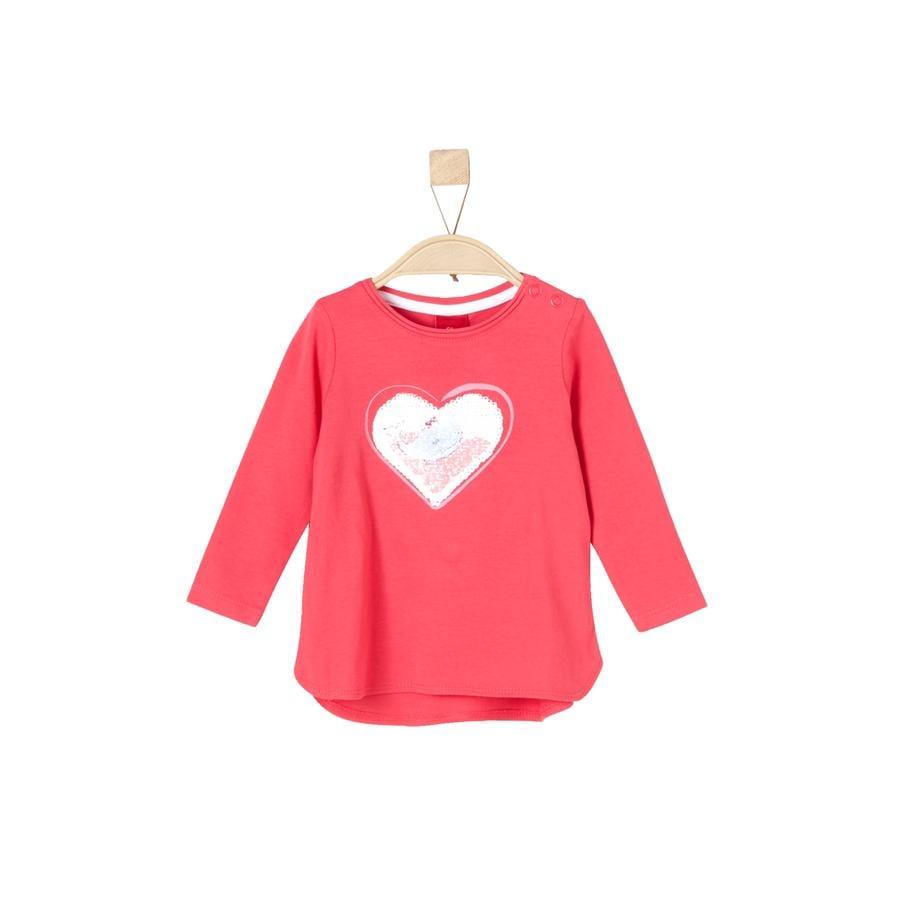 s.Oliver Girl s shirt met lange mouwen roze