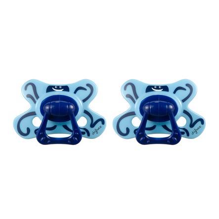 difrax Dental Silikon Schnuller Ted 18+ Monate 2er Pack