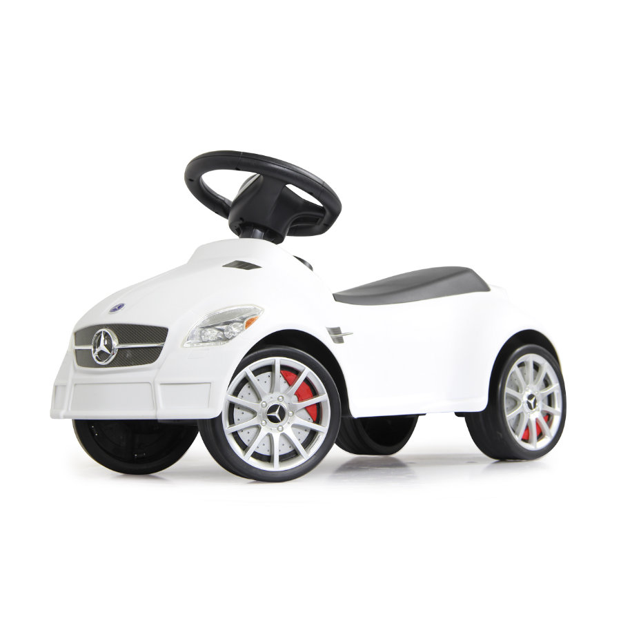 JAMARA Macchinina Kids Cavalcabile - Mercedes SLK55 AMG, bianca