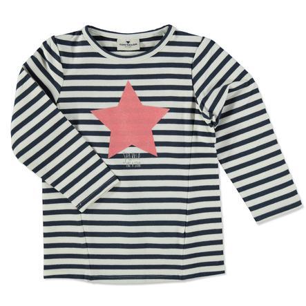 Bluza bluzy TOM TAILOR Girl w paski z gwiazdką w paski.