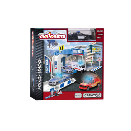 DICKIE Toys Creatix Polisbil Office + 1 Car