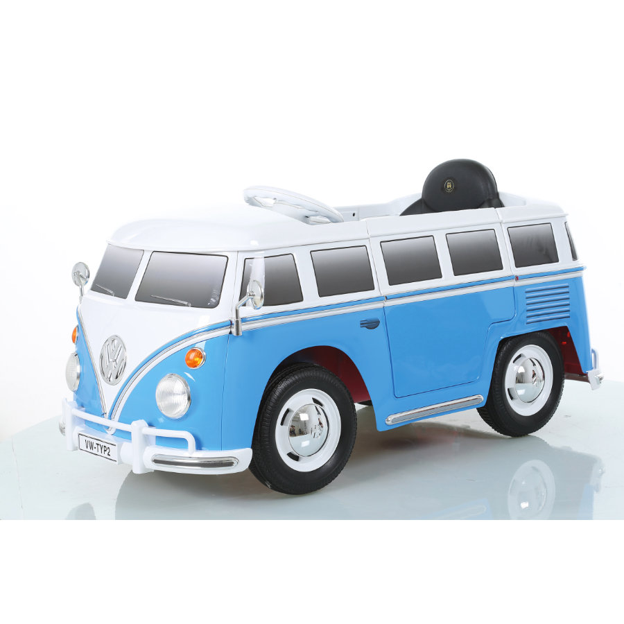 JAMARA Kids Ride-on - VW Bus T1, blauw/wit, Accuvoertuig